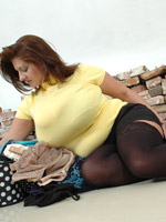Pantyhose black fat pics