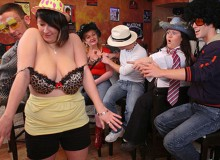 Three delicious fat chicks get wild and wonderful at this party that sees them teasing
