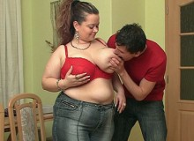 She delivers a scale, he tells her all about his love for bbw sluts, and they have incredible sex