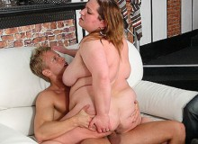 Super size fat milf can't get enough of hard ass banging.