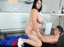 The orgy at the bar features fatties sucking and fucking and one slut just loves it from behind